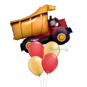 [Supershape] Dump Truck Balloon Bouquet