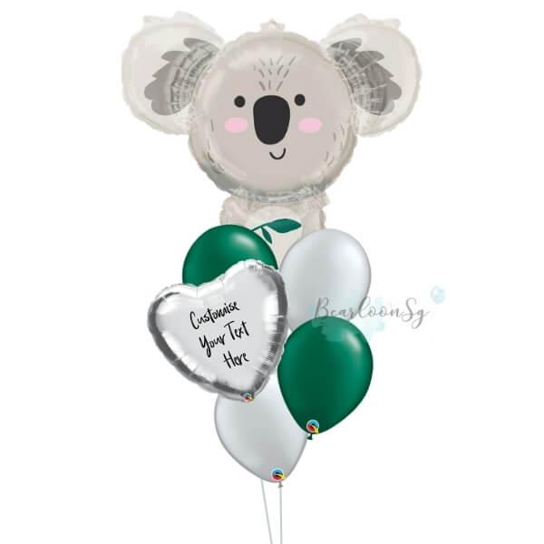 Personalised Koala Bear Balloon Bouquet