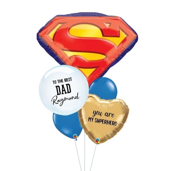 [Father's Day] Superman Logo Balloon Bouquet