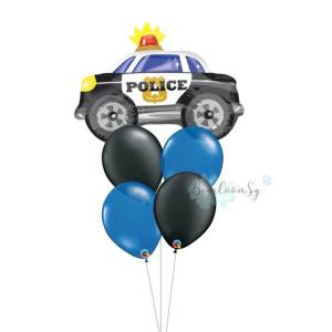 [Supershape] Police Car Balloon Bouquet