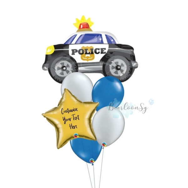 Personalised Police Car Balloon Bouquet