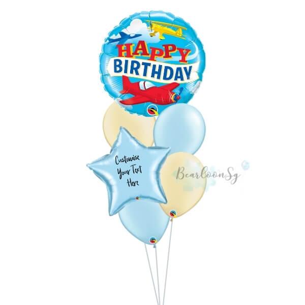 Birthday Airplanes Balloon Bouquet
