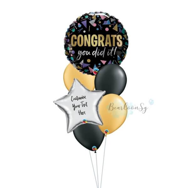 Congrats You Did It Balloon Bouquet