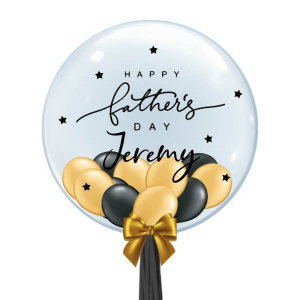 [Father's Day] Personalised Balloon (Black & Gold)