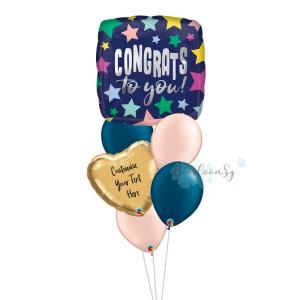 Congrats Stars Balloon Bouquet