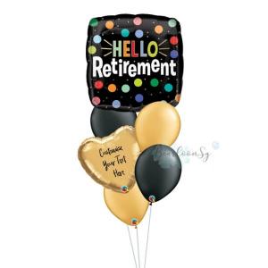 Hello Retirement Balloon Bouquet