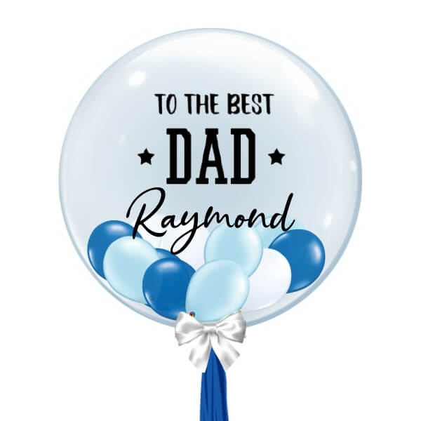 [Father's Day] Personalised Balloon (Blue & White)