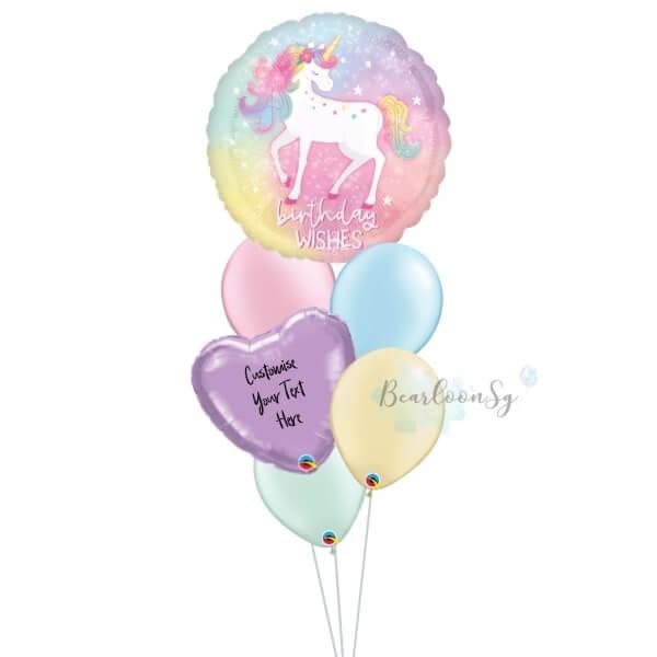 Enchanted Unicorn Birthday Balloon Bouquet