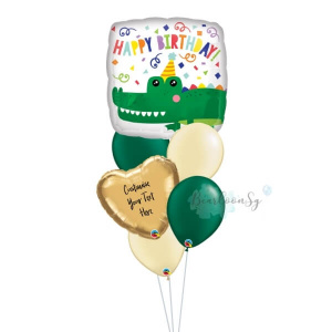 Gator Happy Birthday Balloon Bouquet