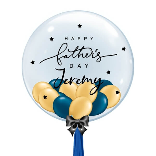 [Father's Day] Personalised Balloon (Blue & Gold)