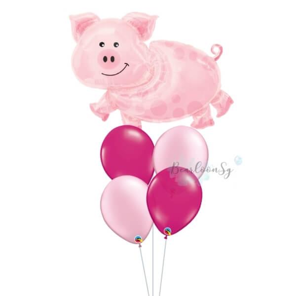[Supershape] Pig Balloon Bouquet
