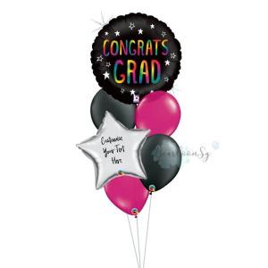 Rainbow Congrats Grad Balloon Bouquet