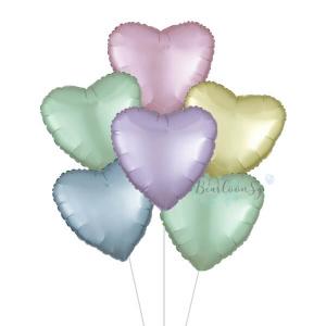 Satin Luxe Rainbow Heart Foil Balloon Bouquet