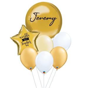 [Teacher's Day] Orbz Balloon Bouquet - Gold