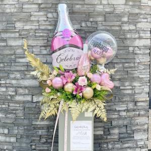 Celebrate Champagne Congratulation Stand