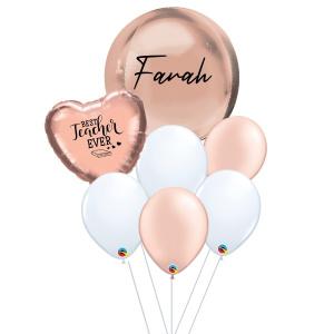 [Teacher's Day] Orbz Balloon Bouquet - Rose Gold
