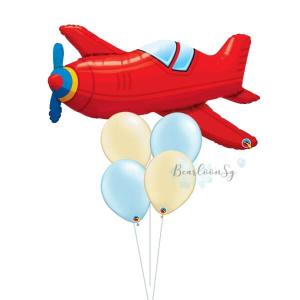 [Supershape] Vintage Plane Balloon Bouquet