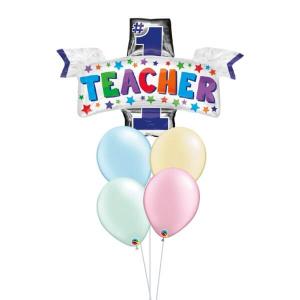 [Supershape] Number 1 Teacher Balloon Bouquet