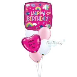 Happy Birthday Unicorn Balloon Bouquet