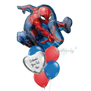 Spiderman Personalised Balloon Bouquet