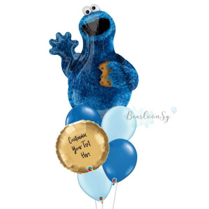 Cookie Monster Personalised Balloon Bouquet