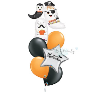 [Halloween] Ghost Stacker Personalised Balloon Bouquet