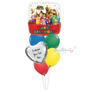 Super Mario Birthday Balloon Bouquet