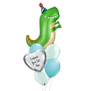 Dinomite T-rex Personalised Balloon Bouquet