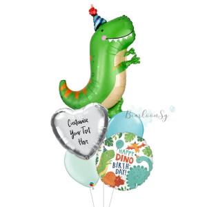 Dinomite T-rex Birthday Balloon Bouquet