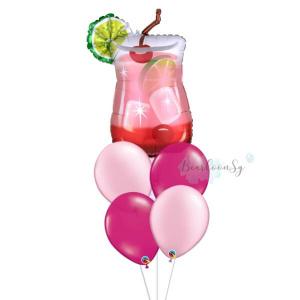 [Supershape] Gin Fizz Balloon Bouquet