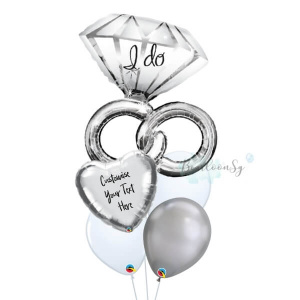 Wedding Ring Personalised Balloon Bouquet