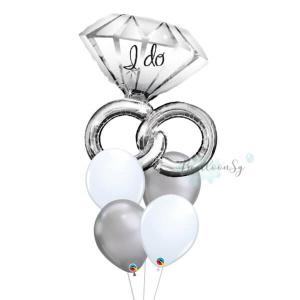 Wedding Ring Balloon Bouquet