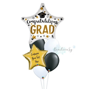 Congratulation Grad Star Balloon Bouquet