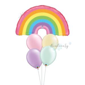 Glitter Pastel Rainbow Balloon Bouquet
