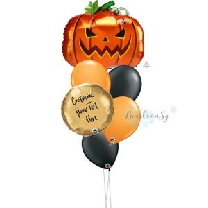 Frightful Pumpkin Personalised Balloon Bouquet