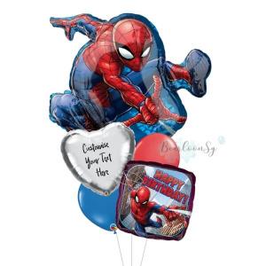 Spiderman Birthday Balloon Bouquet